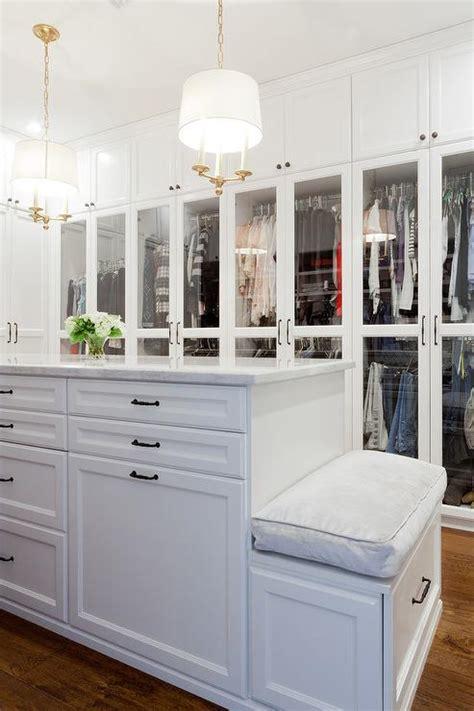 closet island glass top closet island with 12 drawers transitional