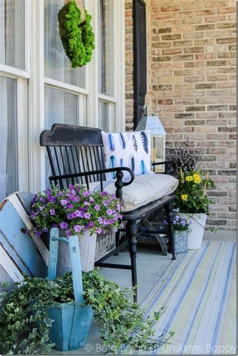 bench for front porch front porch bench porch bench and feather pillows on