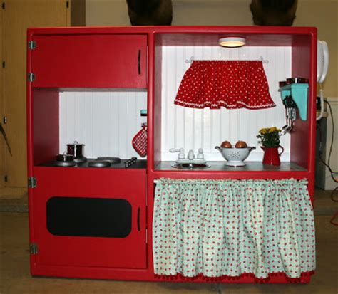 tv cabinet made into play kitchen jubilation studios cutest idea ever child s play kitchen