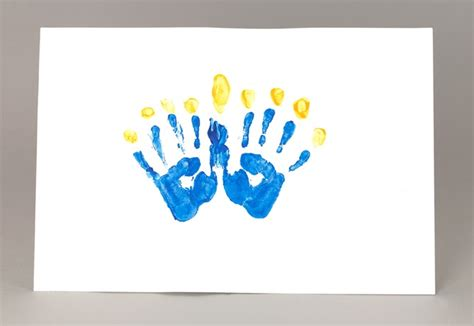 menorah crafts for chanukah handprint menorah craft crayola
