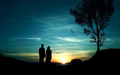 Wallpaper Sunset Couple | sunset hd wallpapers desktop pictures one hd wallpaper