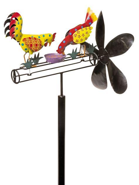 calico chicken whirligig garden wind spinners
