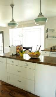 Schoolhouse Pendant Lighting Kitchen Schoolhouse Lights Bring Vintage Industrial Style To Kitchen Barnlightelectric