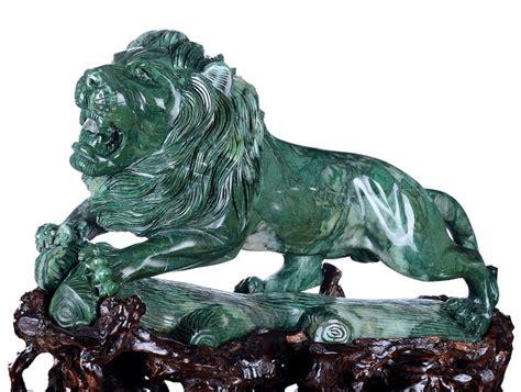 statua co dei fiori statua di pietra animale intagliata pietra verde naturale