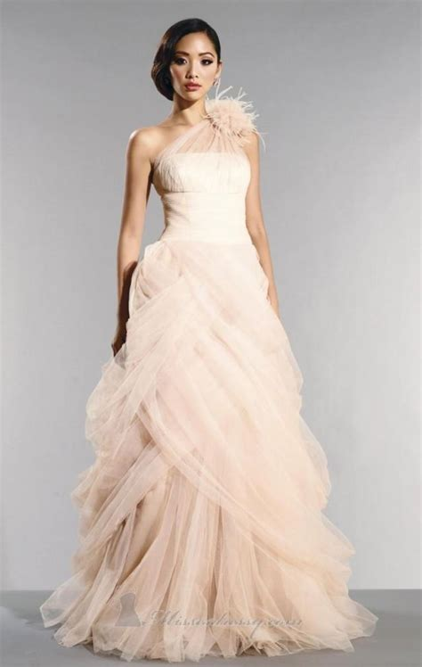 Colored Wedding Gown by Colored Wedding Dresses Tulle Informal Wedding Dresses