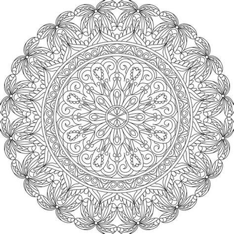 nature mandala coloring pages printable heart of lace free printable mandala coloring page