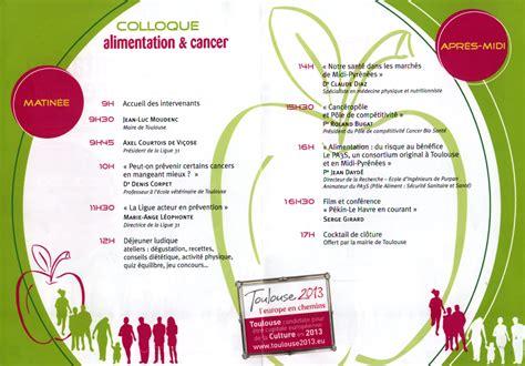 alimentation et cancer centre hospitalier universitaire