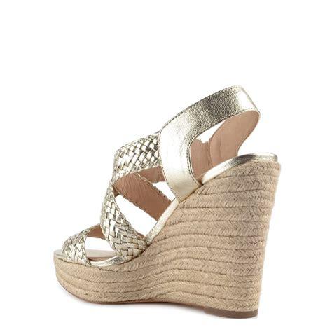 michael kors gold wedge sandals michael michael kors giovanna pale gold wedge sandal