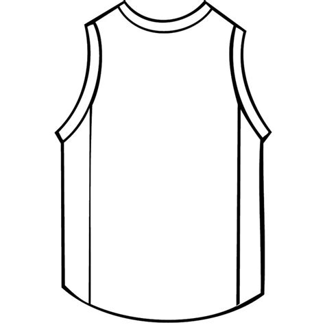sports jersey template basketball shirt outline vector at vectorportal