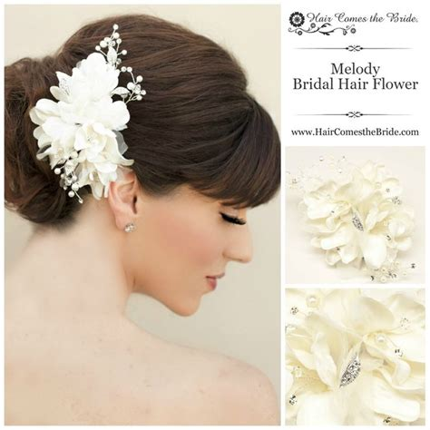 Flower Hair Accessories For Weddings by Beaded Ivory Bridal Hair Flower From Hair Comes The