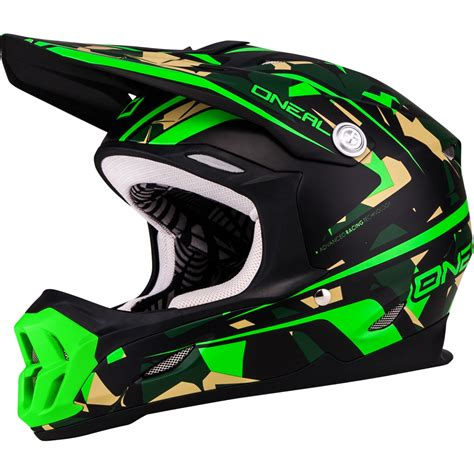 green motocross helmet oneal 7 series camo acu dot lightweight enduro jis mx