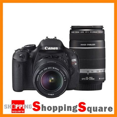 Kamera Dslr Canon Eos 600d Kit Lensa 18 55mm Is canon eos 600d x5 18 55mm 55 250mm lens kit