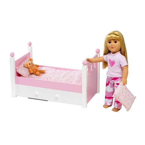 bed dolls for american girl doll single bed trundle fits 46cm