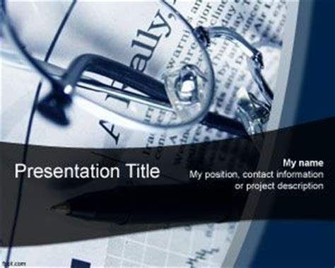 powerpoint templates economics newspaper powerpoint template