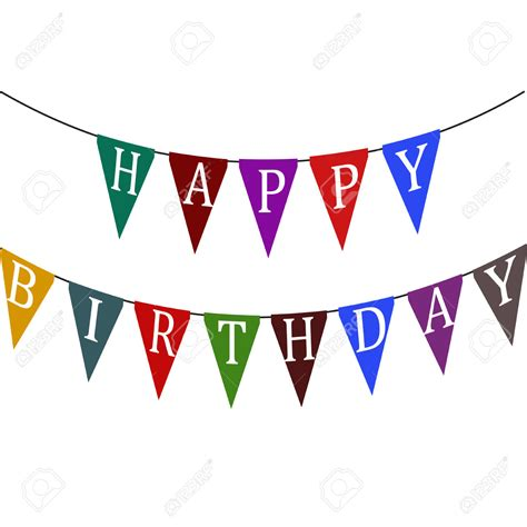 Bunting Flag Happy Annivesary flag clipart happy birthday pencil and in color flag clipart happy birthday