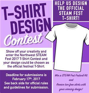 design competition guidelines local district northwest steam fest tshirt design contest