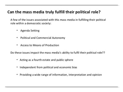 Media Politics Essay by Free Essay On Impact O Mass Media On
