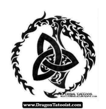 tribal trinity tattoo celtic meaning 20celtic 20dragon
