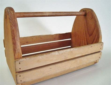 Handmade Tool Box - small vintage wood tool box handmade