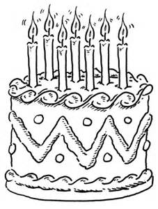Disegno Di Torta Compleanno Da Colorare  Disegni E sketch template