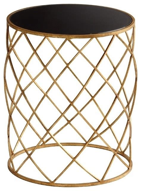 Wire Side Table Modern Gold Iron Wire Accent Side Table Transitional Side Tables And End Tables By Pizzazz