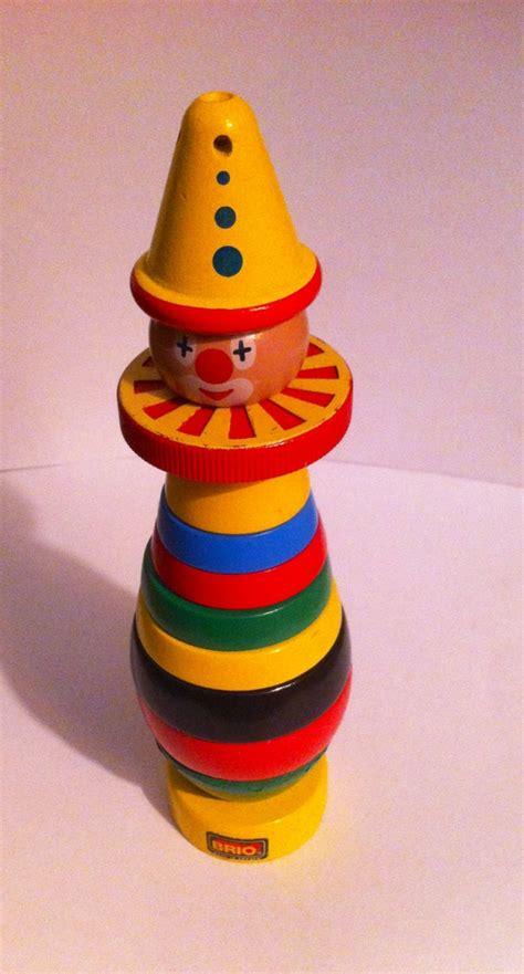 brio stacking clown vintage brio wooden stacking clown made in swede brio