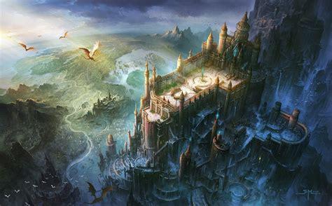 libro abandoned planet fantasy art dragon castle bird s eye view wallpaper no 11163 wallhaven cc