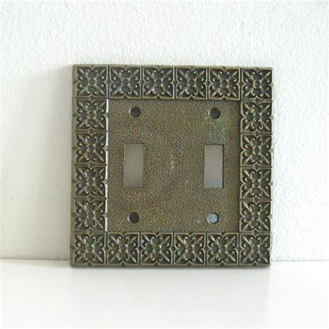 brass light switch covers vintage light switch cover plate brass double national