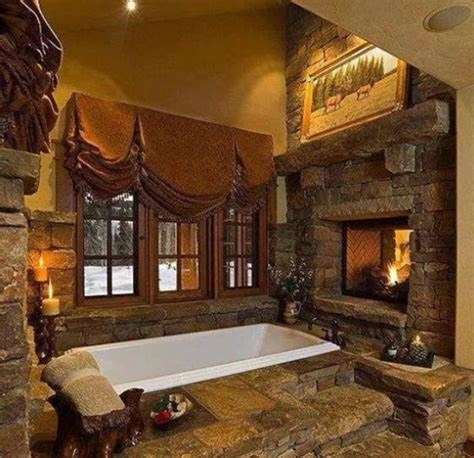 log cabin bathroom log home living