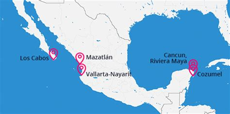 map of mexico vacation spots mexico vacations gallery