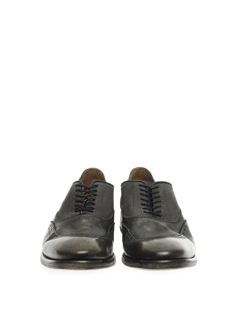 varvatos oxford shoes varvatos fleetwood leather oxford shoes in black for