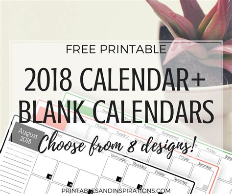 2018 colorful calendar free printable plus blank calendars 2018 colorful calendar free printable plus blank calendars