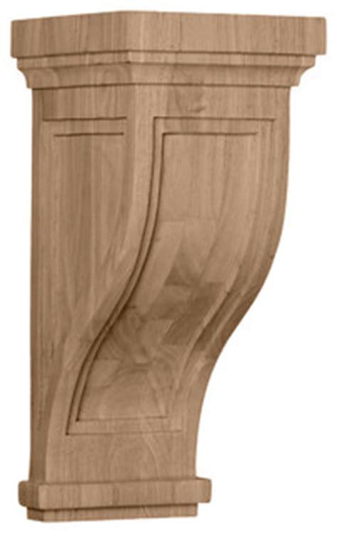Modern Wood Corbels 7 1 2 Quot W X 8 Quot D X 17 Quot H Traditional Recessed Corbel