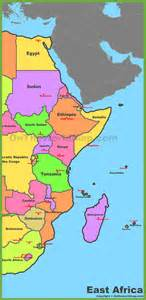 East Africa Map by Map Of East Africa