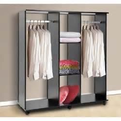 armoire penderie en panneau particule mobile noir achat