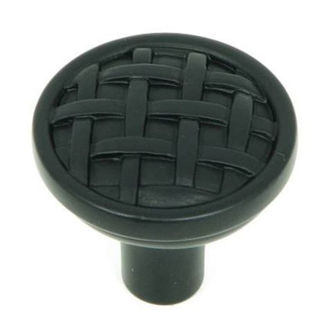 black granite cabinet knobs shop stone mill hardware basket weave matte black round