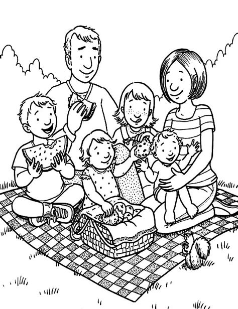 picnic coloring pages pin family picnic colouring page on