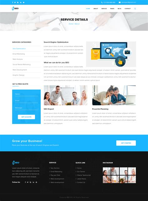 seo marketing and seo psd template by design cafe