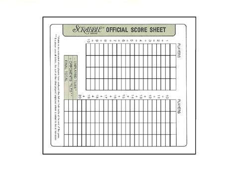 scrabble score sheets printable scrabble score sheet crafts paper
