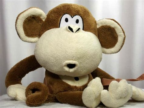 Bag Animal Monkey bobby monkey plush backpack stuffed animal l3b12