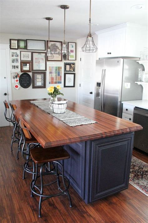 Wood Tops For Kitchen Islands by 25 Best Ideas About Butcher Block Island On Pinterest