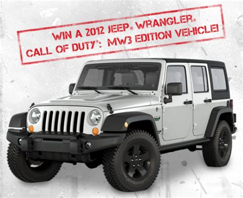 Mw3 Jeep Giveaway - maximum warrior 2011
