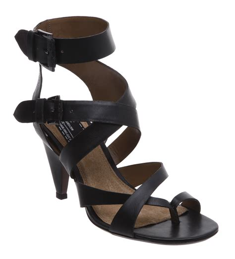 new bertie keira womens black strappy heeled