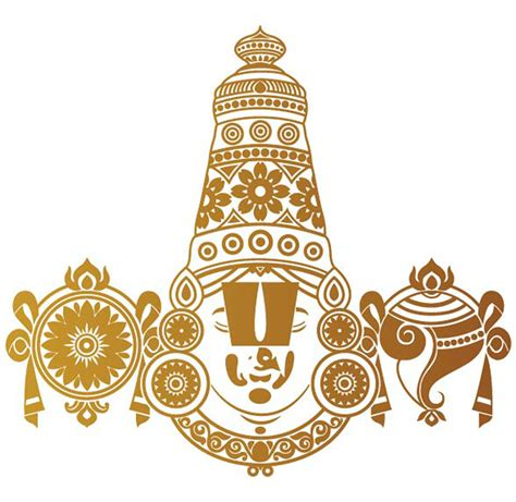 Home Decor Showrooms Tirupati Balaji Copper Rear Glass Car Sticker Walldesign