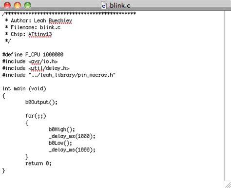 avr programming tutorial, part 2: writing programs