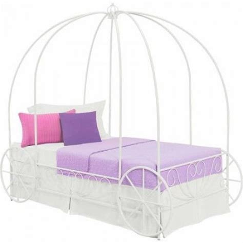twin princess bed frame twin princess carriage bed metal frame canopy girls pink