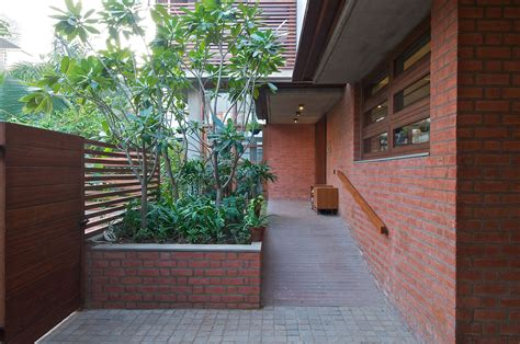 outside brick wall designs green house designed by hiren patel architects keribrownhomes