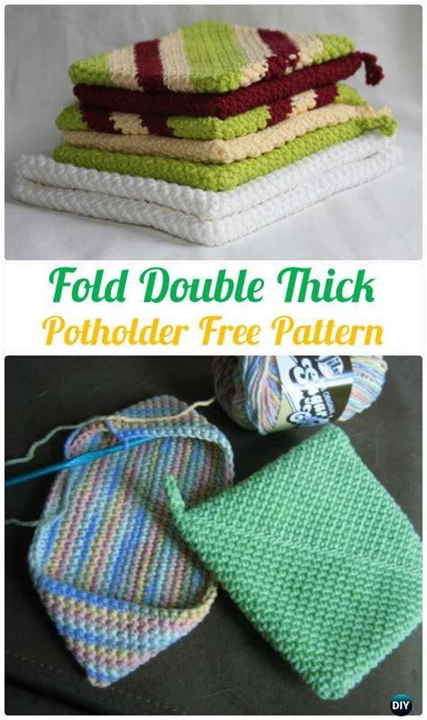 pattern for dishcloth holder crochet fold double thick potholder free pattern