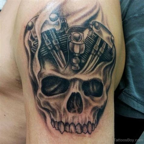 pictures skull tattoos skull design on shoulder designs