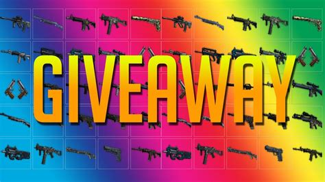 Csgo Giveaways - cs go giveaway 100 skins youtube